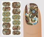 """Слайдер для дизайна ногтей, """"Орнамент"""" №V 134,  NOGTIKA"""