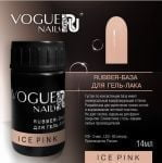 Rubber Base Vogue Nails Каучуковая руббер база ICE PINK 14 мл