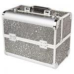 Кейс (чемодан) профессиональный «Irisk professional» серебро паутинка (27х21х32) №1