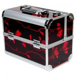 Кейс (чемодан) профессиональный «Irisk professional» Коричневый с красным (27х21х32)