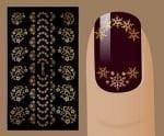 Слайдер для дизайна ногтей, Фольгированные, Золото №G127, NOGTIKA