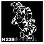 Трафарет для временных тату 9х9 см (H229)