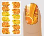 Слайдер для дизайна ногтей, Еда № Q113, NOGTIKA
