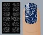 Слайдер для дизайна ногтей, Фольгированные, Серебро №S126, NOGTIKA