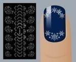 Слайдер для дизайна ногтей, Фольгированные, Серебро №S127, NOGTIKA