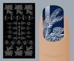 Слайдер для дизайна ногтей, Фольгированные, Серебро №S128, NOGTIKA