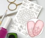 Слайдер для дизайна ногтей, Трафарет № TR103, NOGTIKA