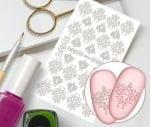 Слайдер для дизайна ногтей, Трафарет № TR104, NOGTIKA