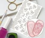 Слайдер для дизайна ногтей, Трафарет № TR107, NOGTIKA